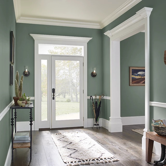 Foyer painted in CULINARY HERBS