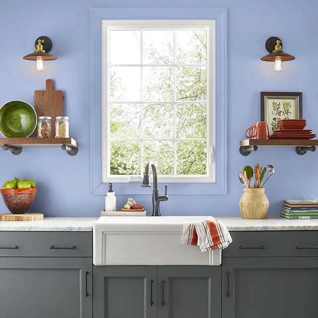 Kitchen painted in SLOW DANCE