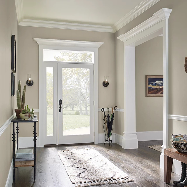 Foyer painted in KHAKI