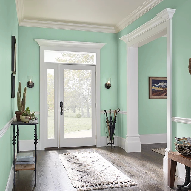 Foyer painted in GREEN COUNTRYSIDE