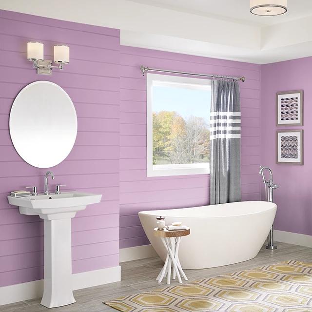 Bathroom painted in HEAD OVER HEELS