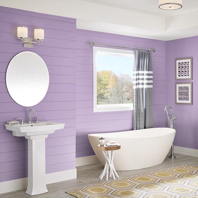 Bathroom painted in FRUIT PUNCH