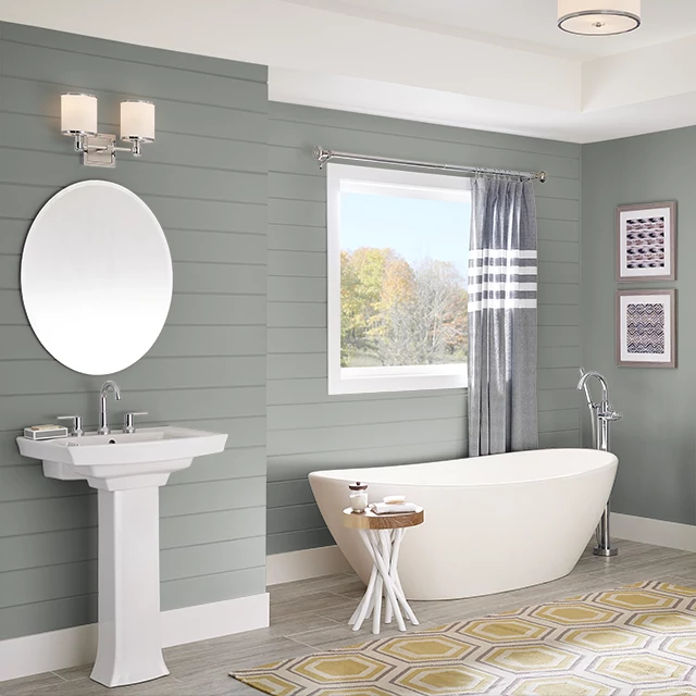 Bathroom painted in UMBER STONE