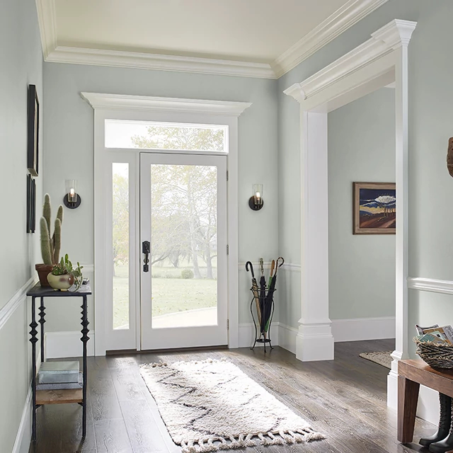 Foyer painted in INTERNATIONAL GRAY