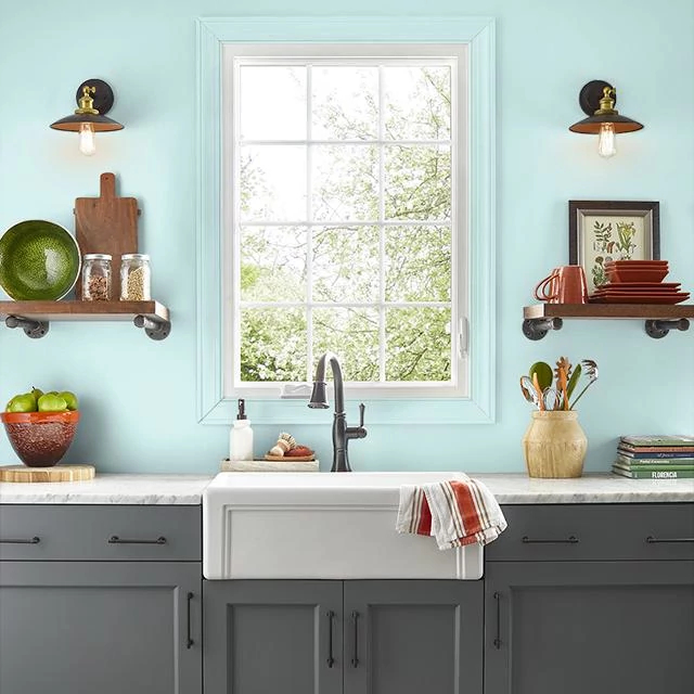 Kitchen painted in SNOW LINE