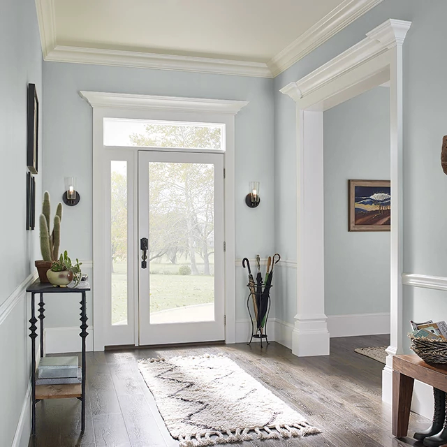 Foyer painted in WHITE GOLD
