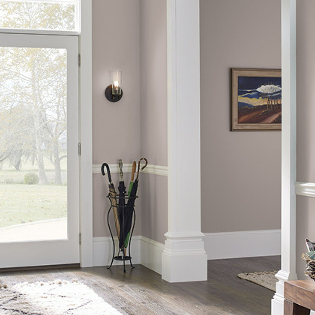 Foyer painted in MEADOW MAUVE