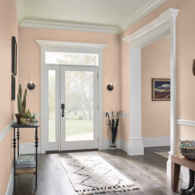 Foyer painted in WASSAIL
