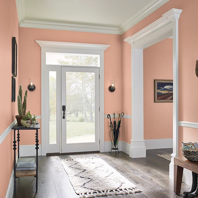 Foyer painted in EMBER GLOW