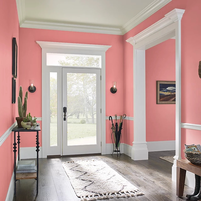 Foyer painted in RUFFLE PINK DRESS