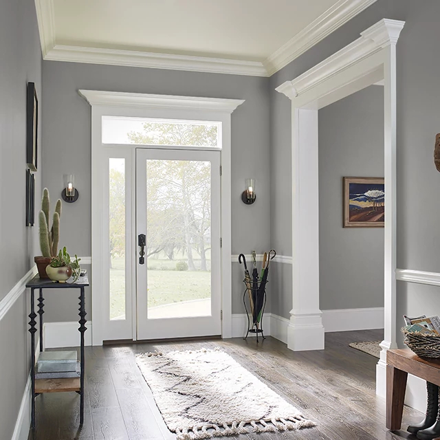 Foyer painted in APPROACHING STORM