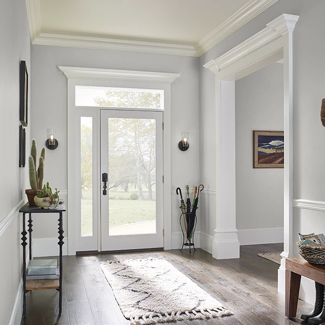 Foyer painted in SUGARED BRONZE