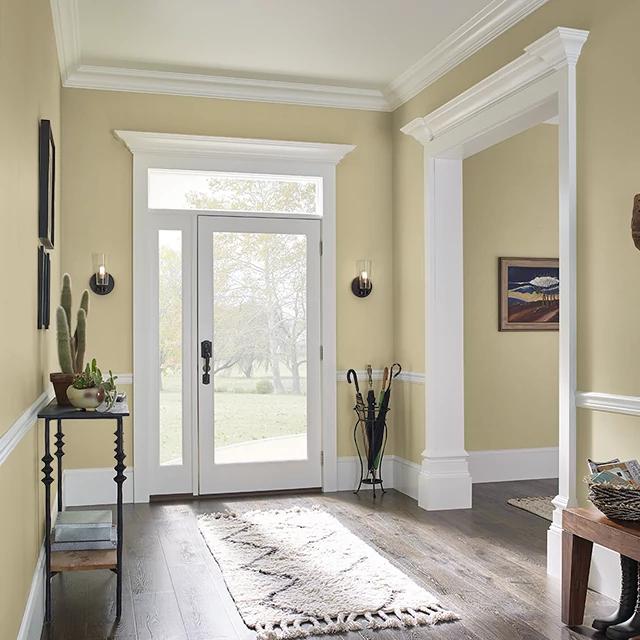 Foyer painted in SAGE SEASONING