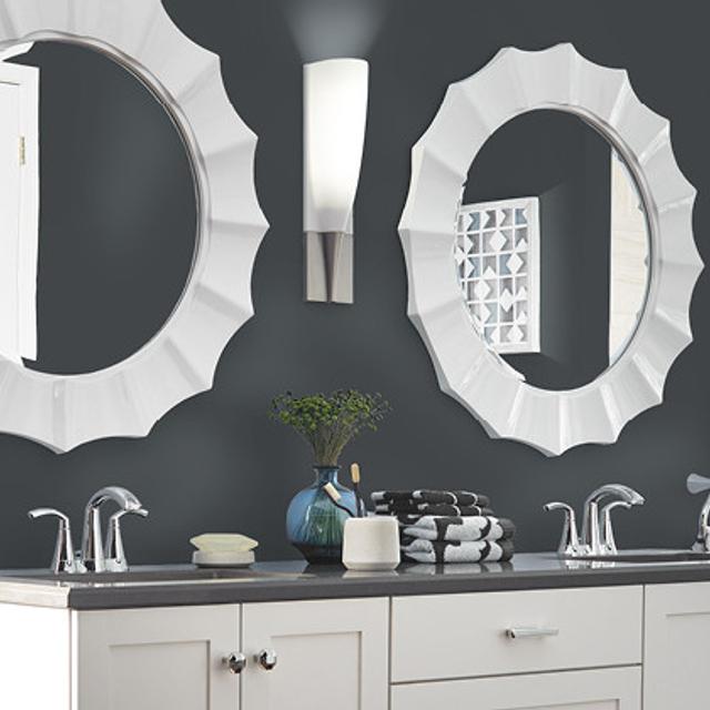 Bathroom painted in TYPEWRITER