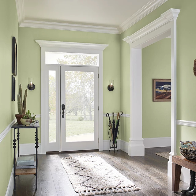 Foyer painted in KIWI