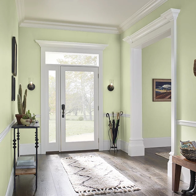 Foyer painted in CELERY STICK