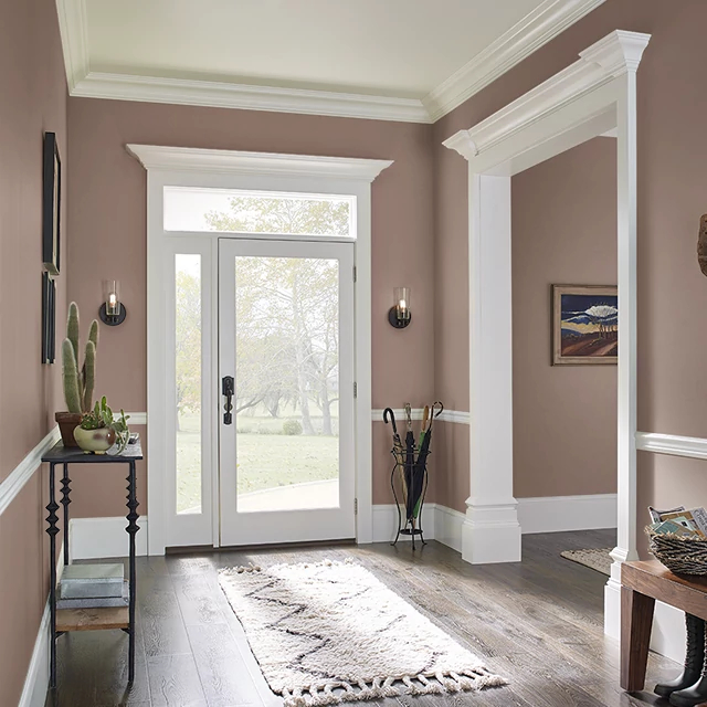 Foyer painted in FINE LEATHER
