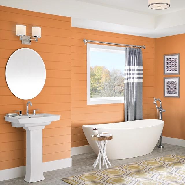 Bathroom painted in LIGER
