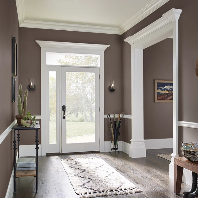 Foyer painted in COFFEE GROUNDS