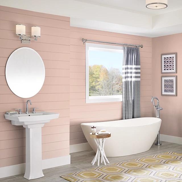 Bathroom painted in ARIZONA CLAY