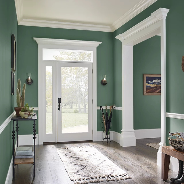 Foyer painted in TROPICAL FOLIAGE