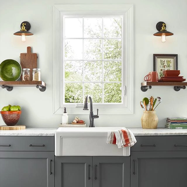 Kitchen painted in TOUCH OF LIME