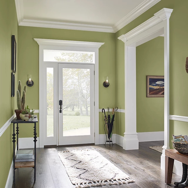 Foyer painted in GRAPEYARD RIDGE