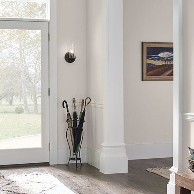 Foyer painted in WINDMILL WHITE
