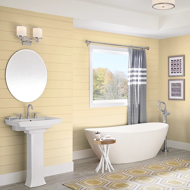Bathroom painted in DROP OF GOLD