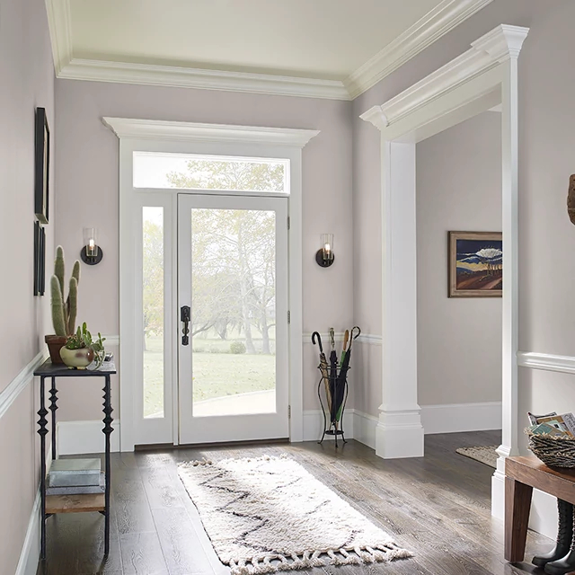 Foyer painted in ALWAYS TAUPE