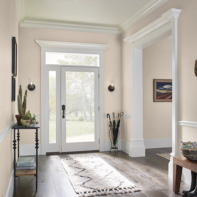 Foyer painted in ALMOND BISQUE