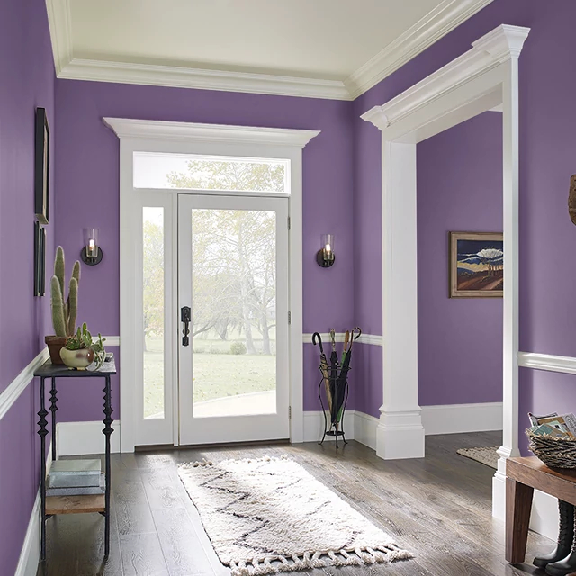 Foyer painted in SUPER VIOLET