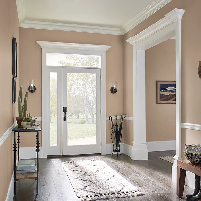 Foyer painted in COFFEE CAKE
