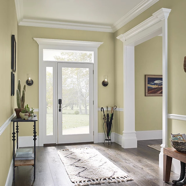 Foyer painted in CUMIN SEED