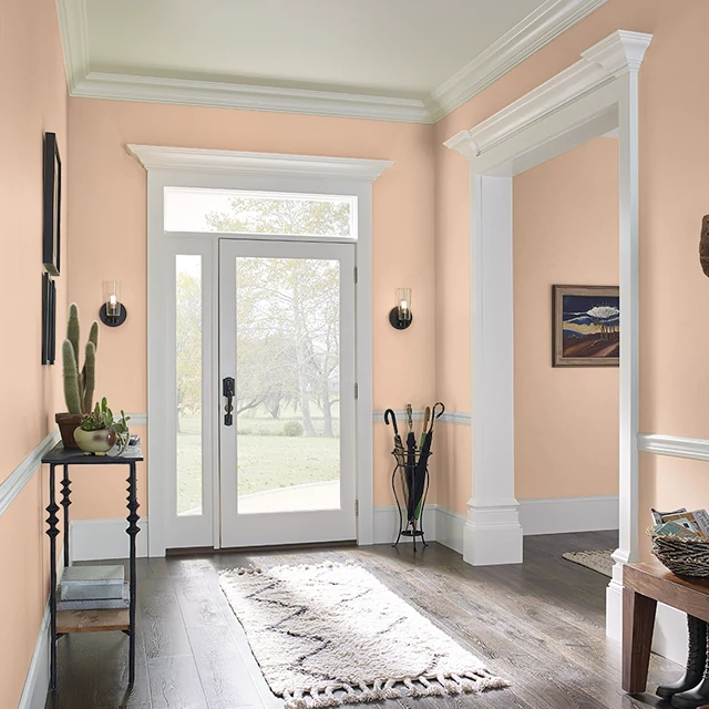 Foyer painted in CANTALOUPE JUICE