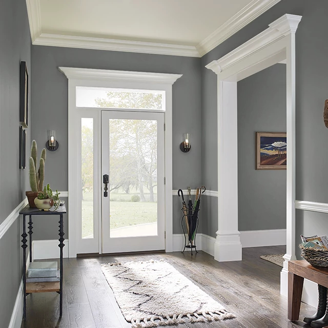 Foyer painted in OLD KEY