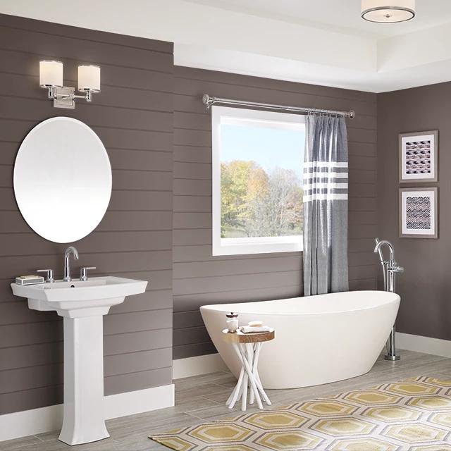 Bathroom painted in CHOCOLATE INDULGENCE