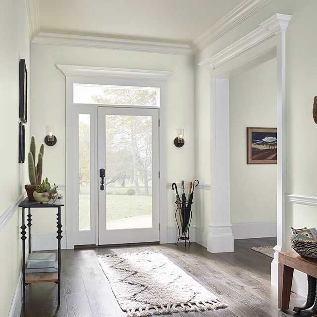 Foyer painted in SALTY AIR