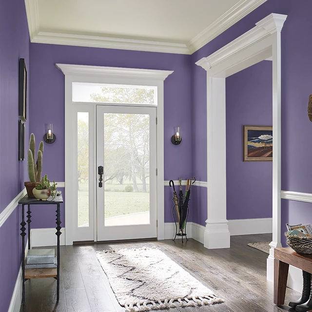 Foyer painted in SUPERSTITION