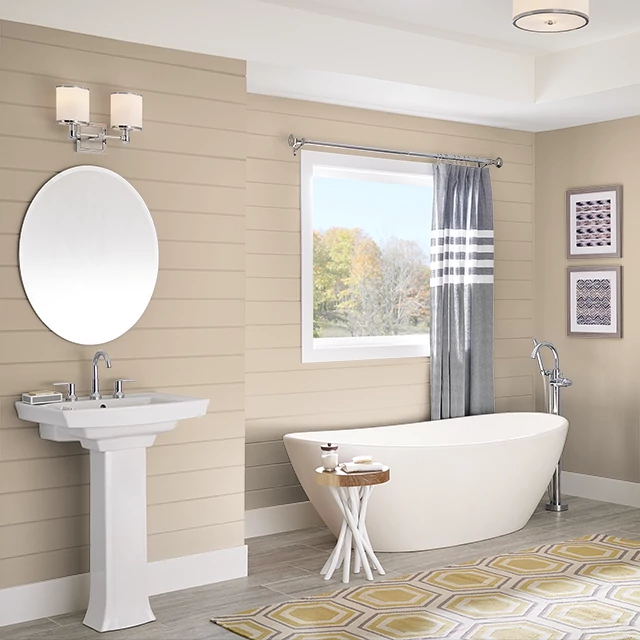 Bathroom painted in RANCH HOUSE