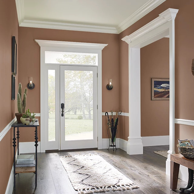 Foyer painted in TOASTY
