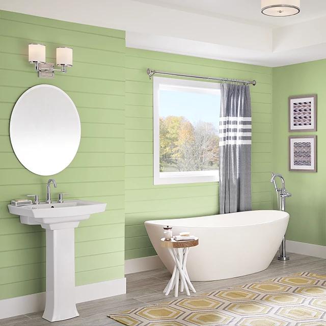 Bathroom painted in SUCCULENT GARDEN