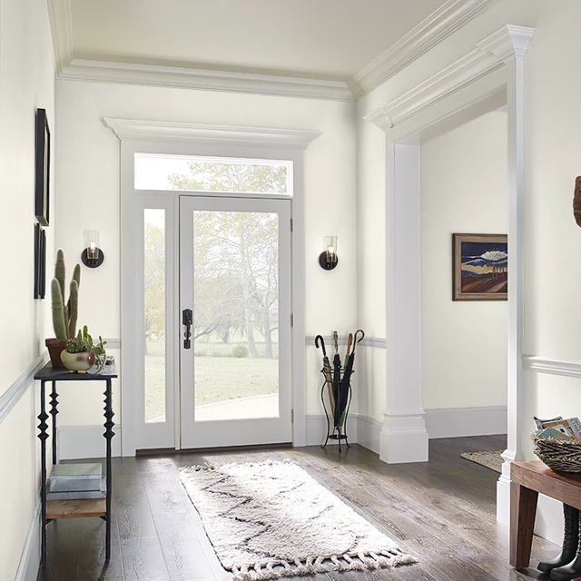 Foyer painted in TEA SET WHITE