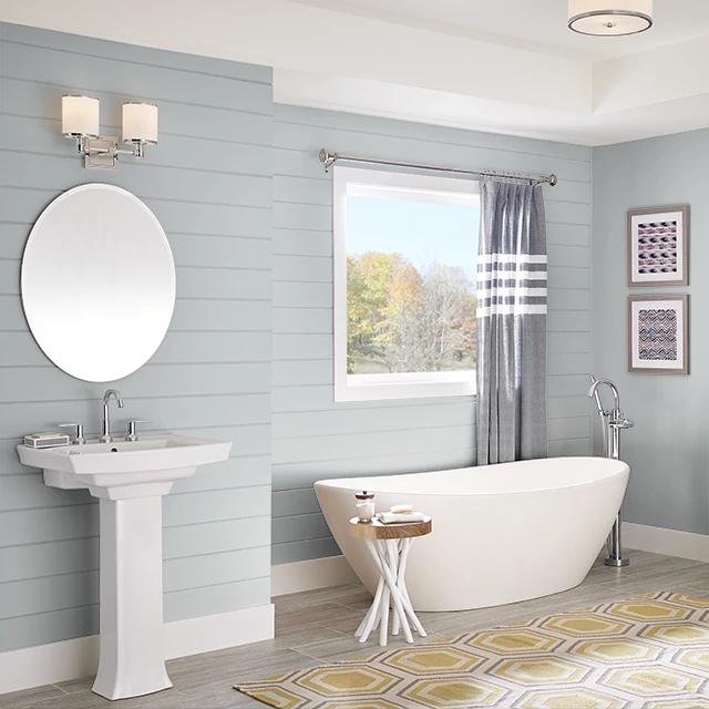 Bathroom painted in PLATINUM RING