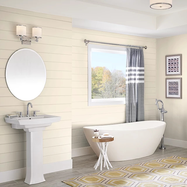 Bathroom painted in COUNTRY WHITE