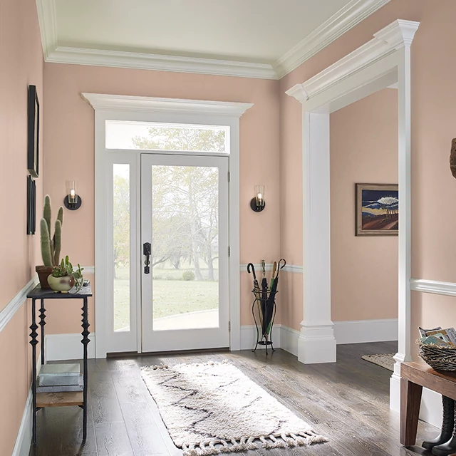 Foyer painted in BRANDY CREAM