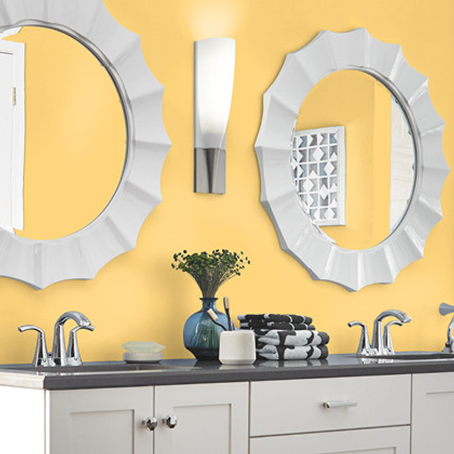 Bathroom painted in JAZZ AGE YELLOW