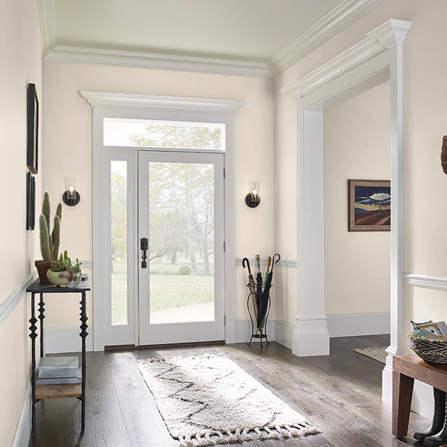 Foyer painted in BASIC BEIGE