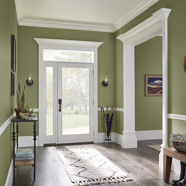 Foyer painted in JUNE MOSS