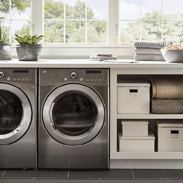 Laundry painted in PATIO GRAY